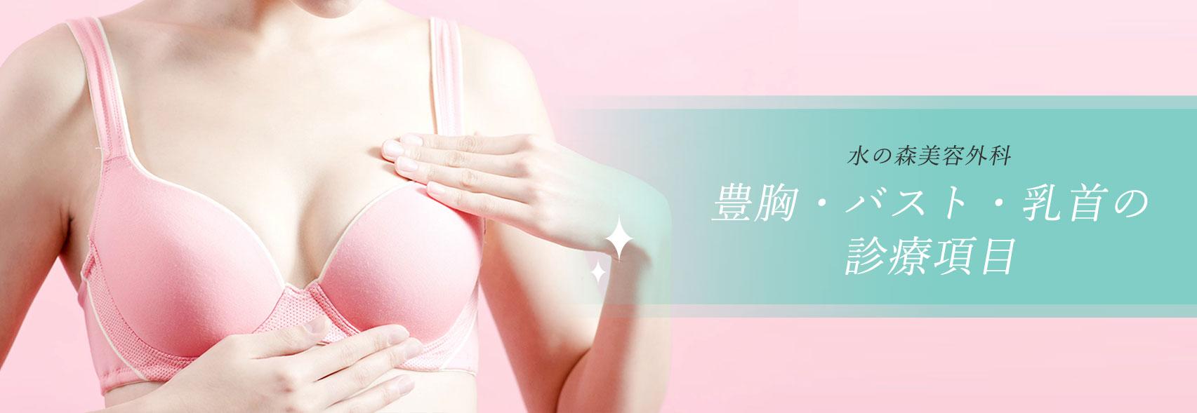 豊胸・バスト・乳首の施術一覧