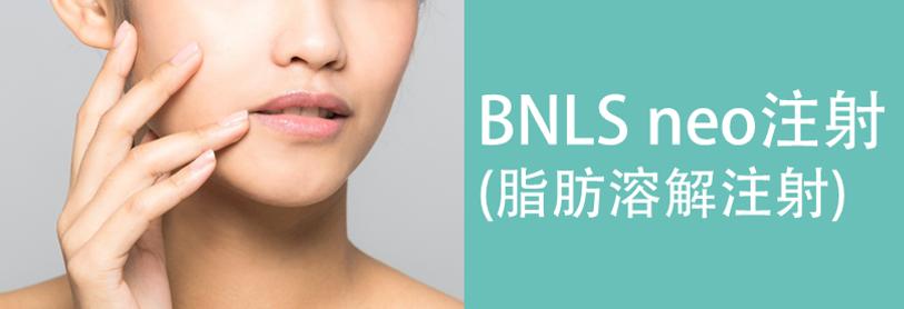 BNLS neo注射(脂肪溶解注射)の美容整形について